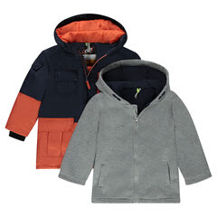 Anorak 2 en 1 con chaqueta con capucha extraíble