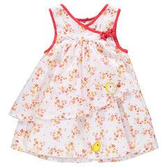 Vestido asimétrico estampado de flores