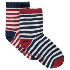 Juego de 2 pares de calcetines de rayas all over