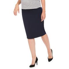 Falda para el embarazo de color liso en la parte trasera