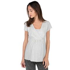 Camiseta homewear de embarazo y lactancia