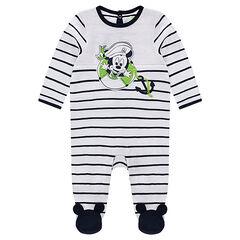 Pijama de punto de rayas con estampado de Mickey