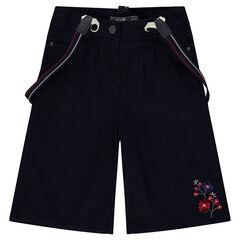 Pantalón corto amplio estilo falda corta con tirantes