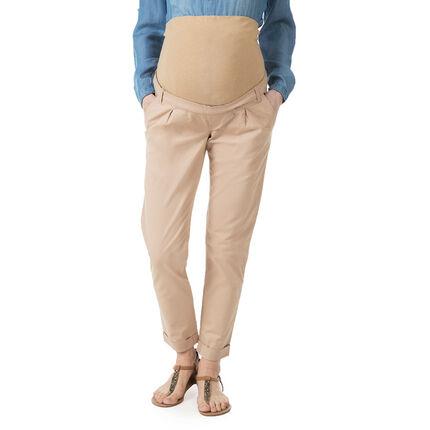 Pantalón chino de premamá con banda alta