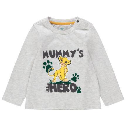 Camiseta de manga larga de punto con estampado de Simba del Rey León Disney