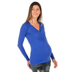 Tee-shirt d'allaitement manches longues en slub