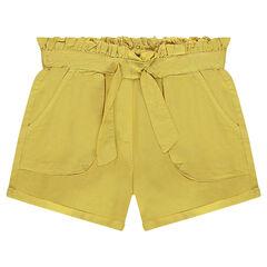 Júnior - Pantalón corto de sarga tencel con cordones