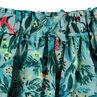 Falda con volantes y estampado tropical all over