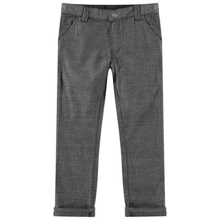 Pantalón gris oscuro con chevrones