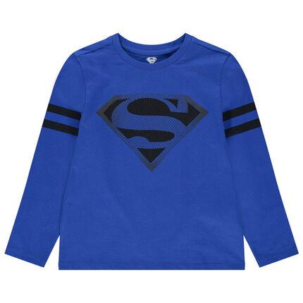 Camiseta de manga larga de algodón ecológico con estampado de Superman