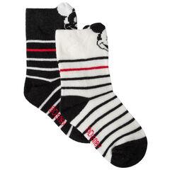 Pack de 2 pares de calcetines de rayas motivo  Mickey Disney