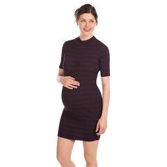 Vestido manga corta para el embarazo con rayas