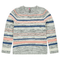 Júnior - Jersey de punto tricotado de rayas de jacquard
