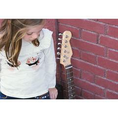 Camiseta de manga larga de punto con pestañas de efecto terciopelo