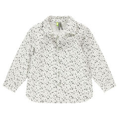 Camisa de manga larga con estampado de fantasía all-over.