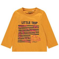 Camiseta de manga larga de algoidón ecológico con dibujo estampado