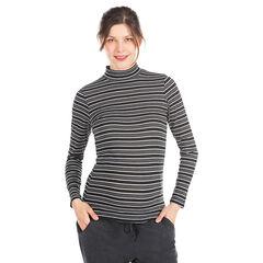 Camiseta interior cuello vuelto para el embarazo con rayas