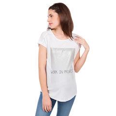 Camiseta de manga corta para embarazada con mensaje de fantasía