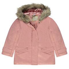 aae9ebfd5 Abrigo de efecto paño de lana con forro de borreguito