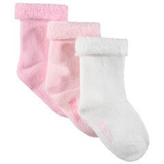 Juego de 3 pares de calcetines lisos de rizo