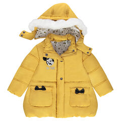 Anorak acolchado de color amarillo con parche de Minnie bordado ©Disney