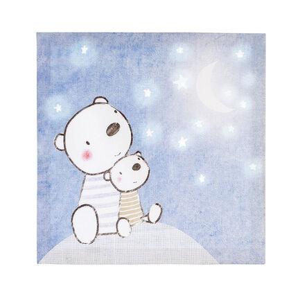 Cuadro decoracion con print osos y cielo estrellados