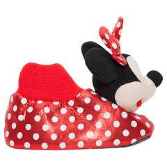 Patucos de peluche de Disney Minnie con lunares de la 28 a la 35