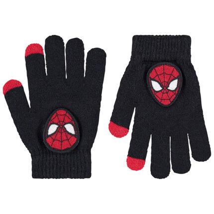 Guantes de punto con parche de Spiderman Marvel