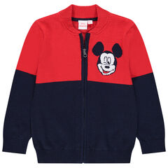 Chaqueta en punto con cremallera motif Mickey Disney