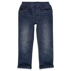 Jeans cintura elástica