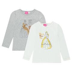 Juego de 2 camisetas interiores Disney de Bella y Cenicienta