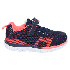 Zapatillas deportivas bajas de fantasía con velcro y cordones elásticos