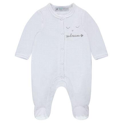 Pijama de terciopelo bordado