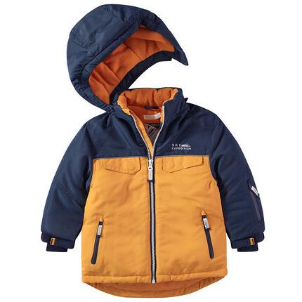 Cazadora de esquí con capucha y forro de polar