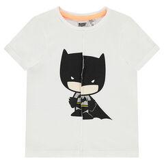 Camiseta de manga corta de punto con efecto roto y estampado de ©Warner Batman