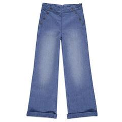 Junior - Jeans large à pont esprit marin