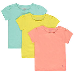 Lot de 3 t-shirts unis en coton bio