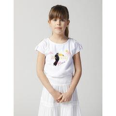 T-shirt manches courtes motif toucan en sequins magiques , Orchestra
