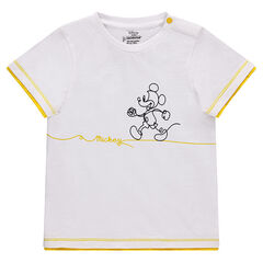Camiseta de manga corta de algodón piqué con estampado Mickey