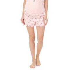 Pantalón corto homewear con flamencos rosas all over