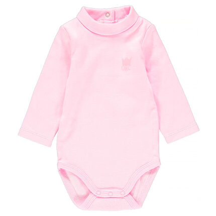 Body col cheminée en coton stretch