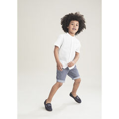 Pantalon corto de rayas verticales all-over