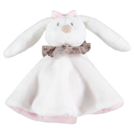 Peluche de conejo con cuello con lunares