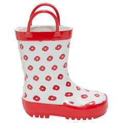 Botas de lluvia con estampado de flores all over y asas