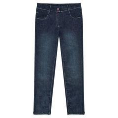 Jeans efecto usado con bolsillos