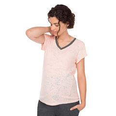 Camiseta premamá de manga corta homewear efecto devorado