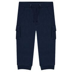 Pantalón de chándal de felpa con bolsillos
