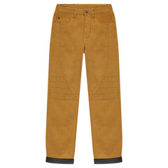 Júnior - Pantalón de tela con forro de punto y cortes
