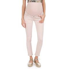 Pantalón de sarga de premamá rosa palo