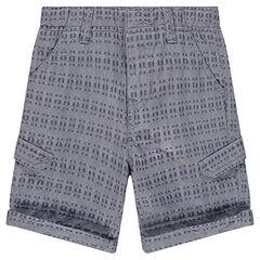 Júnior - Bermudas de algodón de fantasía con bolsillos